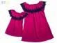 Сукня малинова  з кружевом 1