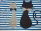 Сукня в синю полоску - Коти 2