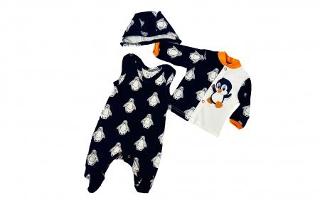 Комплект с распашонкой и ползунками - Пингвинчики