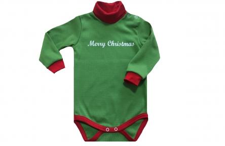 Боди зеленый - Merry Christmas