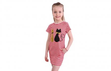Сукня в червону полоску - Коти