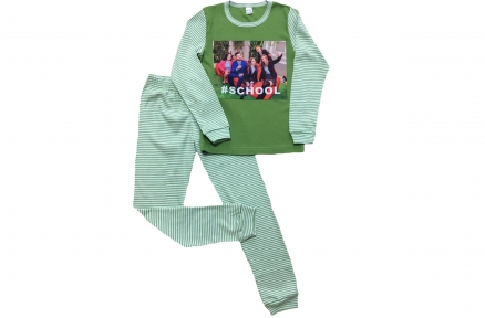 Піжама зелена - Школа 2