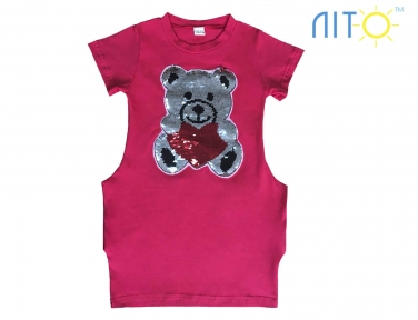 Сукня- Червоно-малинова Мішка