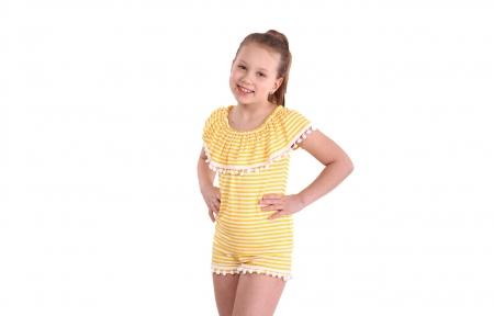 Комплект с шортами - Желтая полоска