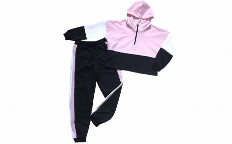 Спортивный костюм - Розовый с черным