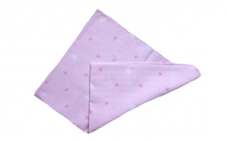 Пеленка муслінова - Зірки на рожевому