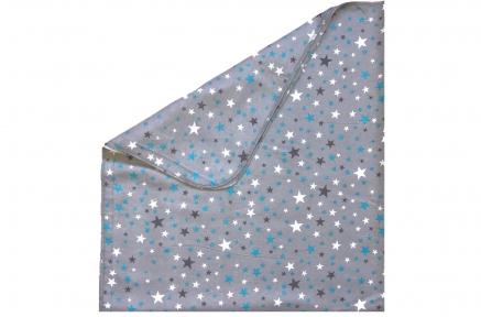 Пеленка байковая - Звездочки серая
