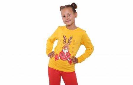Пижама - Согрейся с олененком желтый