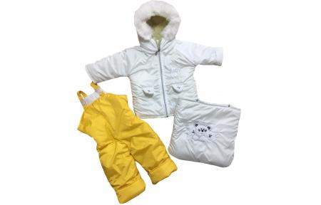 Комбинезон - Бело-желтый