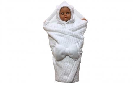 Набір утеплений - Білий вязаний