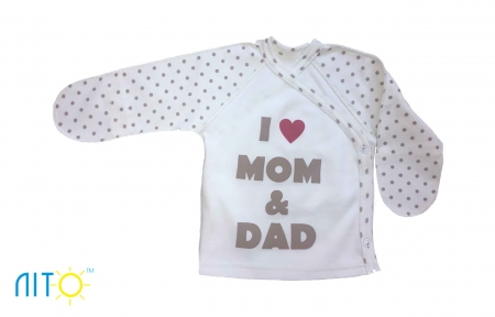 Розпашонка молочна - я люблю маму і тата