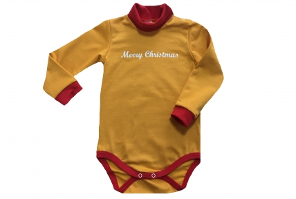 Боді жовтий - Merry Christmas