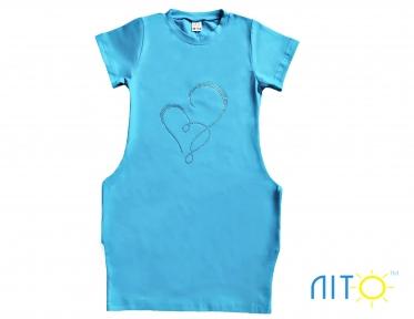 Сукня -Серце бірюзове