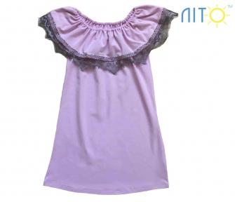 Сукня -Рожева з кружевом