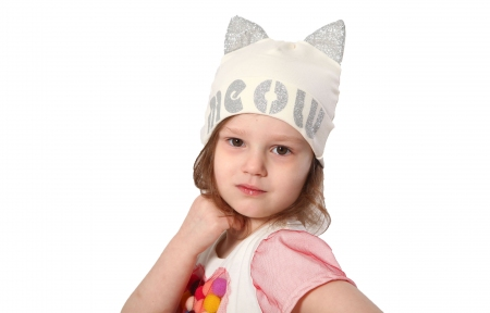Шапка молочна - Meow