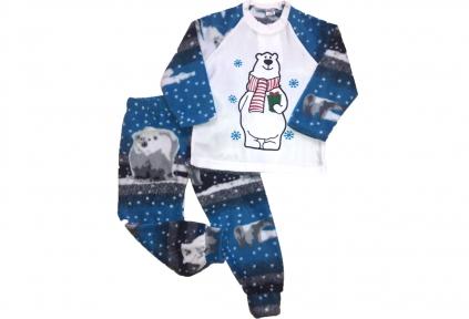 Піжама флісова - Ведмедик синя