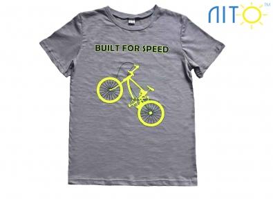 Футболка сіро-бежева -Велосипед
