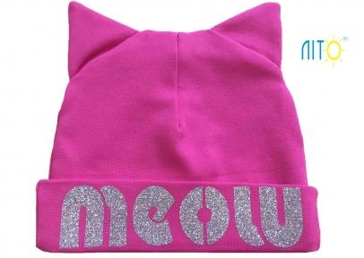 Шапка малинова - Meow