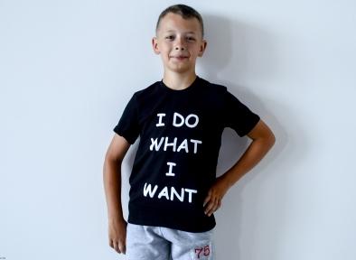 Футболка черная для мальчика - Я делаю то, что хочу