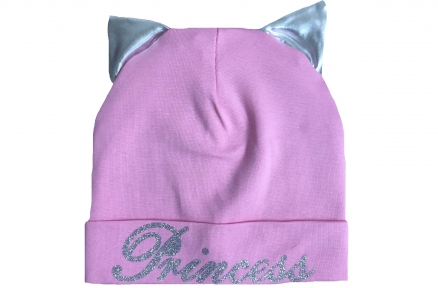 Шапка розовая - Princess