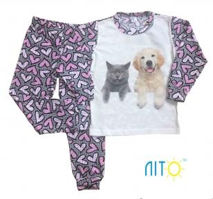 Пижама - Кошечка и собачка