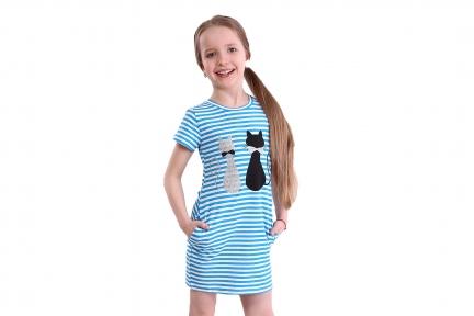 Сукня в синю полоску - Коти