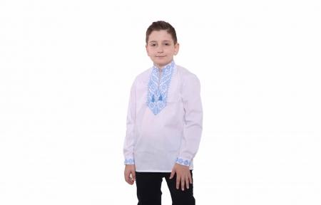 Вышитая рубашка - Орнамент голубой