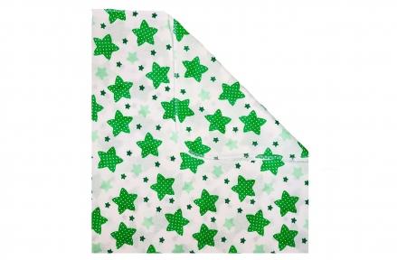 Пеленка ситец - Звезды зеленые