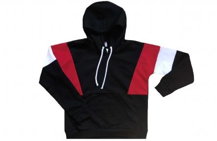 Худи - Черно-красный