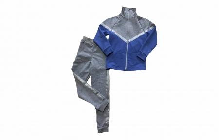 Спортивний костюм - Сірий з фіолетовим
