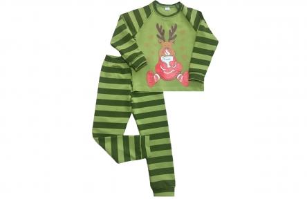 Піжама - Зігрійся з оленятком зелена