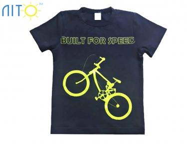 Футболка -Велосипед темно-синя