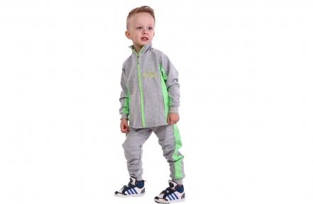Спортивний костюм - Сіро-салатовий