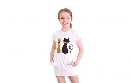 Платье белое - Коты