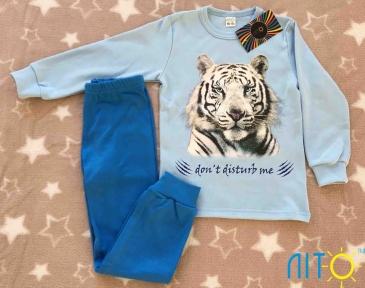 Піжама з начосом -Тигр синій