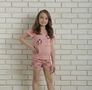 Пижама - Ласточки светло-розовая