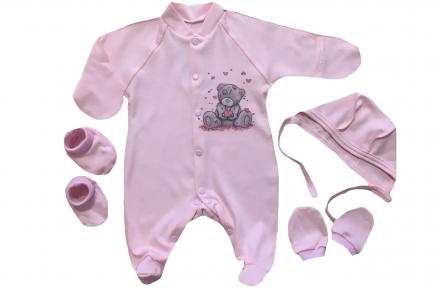 Комплект - Тедди розовый