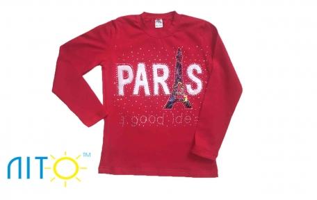 Реглан -Париж червоний