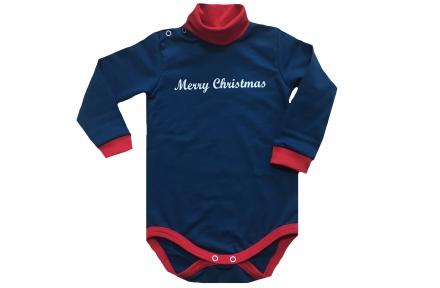 Боді синій - Merry Christmas