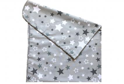 Пеленка ситец - Звезды серая