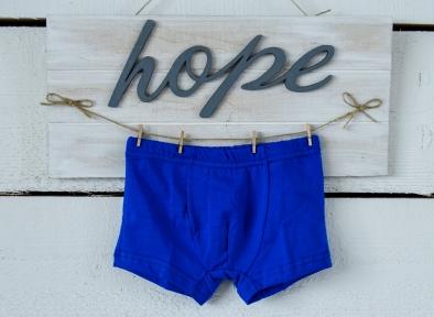 Боксерки для мальчика синие со вставленной резинкой