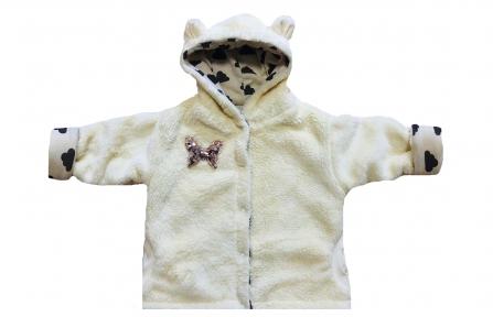 Курточка  махровая - Молочная
