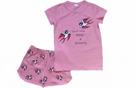 Піжама - Ластівки світло-рожева