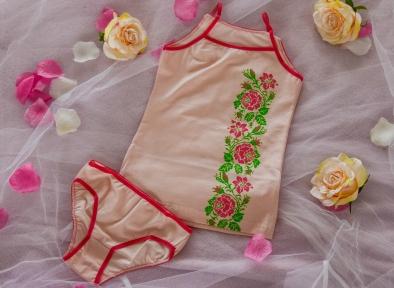 Комплект білизни рожеві троянди