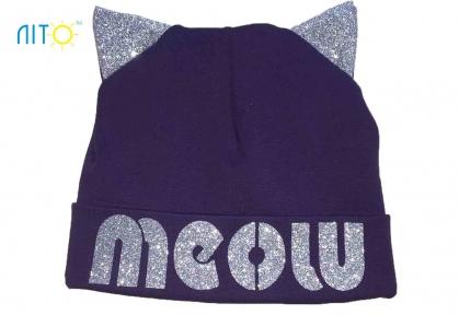 Шапка фіолетова - Meow