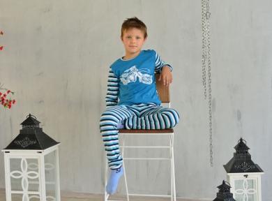 Пижама мотоцик синяя