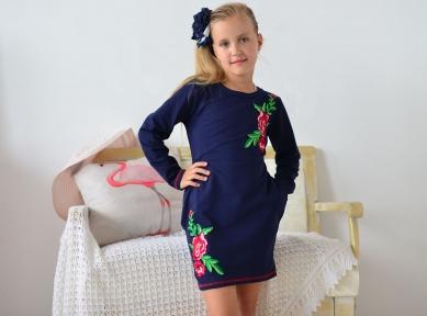 Платье- Рози  темно-синий