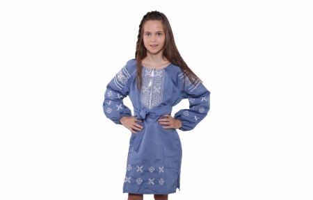 Платье вышитое - Джинсовое