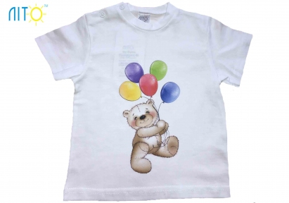 Футболка  - Медвежонок с шариками