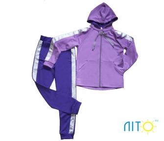 Спортивный костюм - Ультрафиолет с серебром